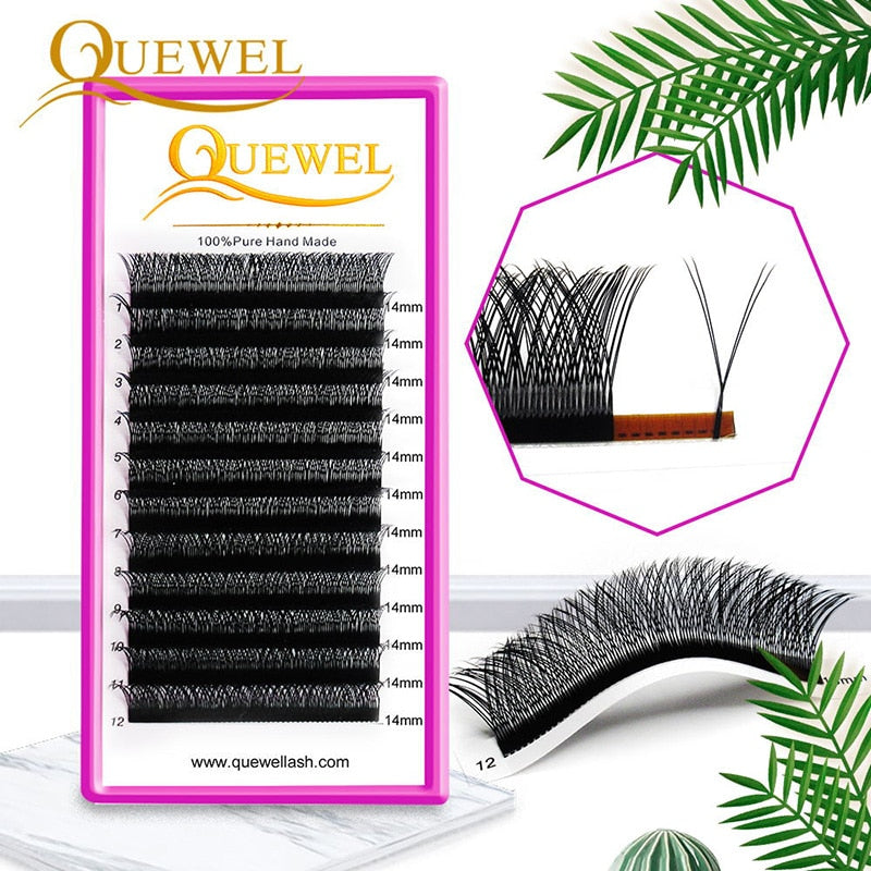 Y Shape Eyelashes Extensions Double Tip Lash Eyelash Cilios Y Natural Easily Grafting Y Style Volume Eye lashes Faux Mink Quewel - Vipbeautycompany