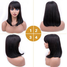 Load image into Gallery viewer, Human Hair Wigs Short Human Hair Wigs Brazilian Hair Wigs For Black Women Short Bob Wig Dorisy Wig Human Hair Non Remy 10-16Inch - Vipbeautycompany