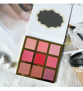 9 Colors 2IN1 Eyeshadow&Blush Palette Shimmer Matte Glitter EyeShadow Pallete Smoky Pigment Makeup Palette Cosmetic Makeup - Vipbeautycompany