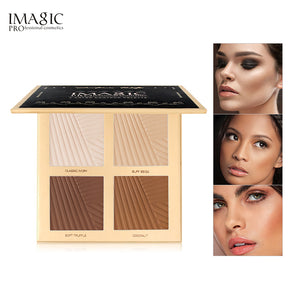 IMAGIC Brand Natural Powder Foundation Oil Control Bright White Concealer Whitening Makeup Powder 4 Colors Powder Pallete TSLM1 - Vipbeautycompany