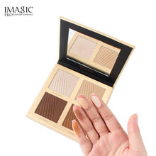 Load image into Gallery viewer, IMAGIC Brand Natural Powder Foundation Oil Control Bright White Concealer Whitening Makeup Powder 4 Colors Powder Pallete TSLM1 - Vipbeautycompany