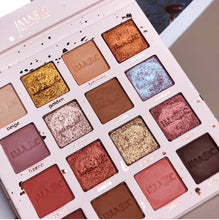 Load image into Gallery viewer, Professional Cosmetics Eyeshadow Pallete Cream 16 Colors Shimmer Matte Glitter Eyeshadow Palette Smoky Pigment Makeup Palette - Vipbeautycompany