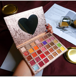 Diamond Eyeshadow Pallete 35 Colors Colorful Powder Pigmented Eyeshadow Palette Glitter Shimmer Matte Makeup Palette Cosmetic - Vipbeautycompany