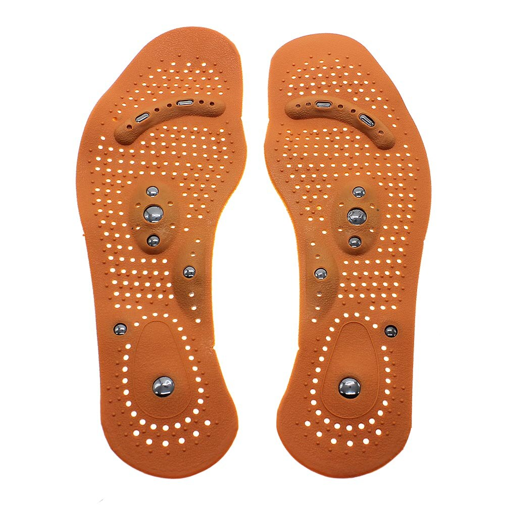 1 pair of improved blood circulation magnetic therapy hallux valgus healing foot insole health gift - Vipbeautycompany