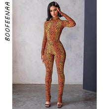 Load image into Gallery viewer, BOOFEENAA 2020 Fashion Cheetah Print Long Sleeve Bodycon Jumpsuit Women Animal Sexy One Piece Outfit Party Club Wear C92-AC27 - Vipbeautycompany