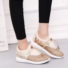 Load image into Gallery viewer, New Women's Sneakers European Crystal Woman Shoes Spring Rhinestone Shoes Ins Tide Flat Shoes Sports Tenis Feminino Zapatos - Vipbeautycompany