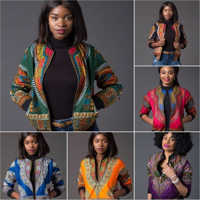 African Clothes 2020 Fashion Dashiki Bazin Dresses for Adult Retro Long Sleeve Africa Jacket