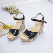 Load image into Gallery viewer, SWYIVY Womens Sandals Heels High Black Shoes Casual Lady Designer Shoes Summmer 2019 New Woman Sandals On Platform Chunky Shoe - Vipbeautycompany