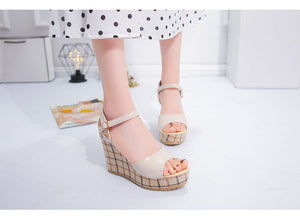 SWYIVY Womens Sandals Heels High Black Shoes Casual Lady Designer Shoes Summmer 2019 New Woman Sandals On Platform Chunky Shoe - Vipbeautycompany
