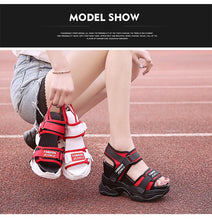 Load image into Gallery viewer, SWYIVY Red Shoes Chunky Sandals Woman White Summer Shoes For Women Platform Sandal 2019 Inreased Casual Sandals Espadrille - Vipbeautycompany