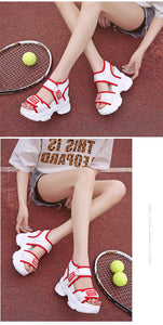 SWYIVY Red Shoes Chunky Sandals Woman White Summer Shoes For Women Platform Sandal 2019 Inreased Casual Sandals Espadrille - Vipbeautycompany