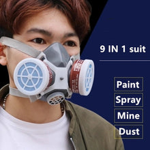 Load image into Gallery viewer, Smoke Gas Mask Protective Respirator Painting Welding Safety Chemical Toxic Gases Canisters Anti-Dust Filter Military Workplace