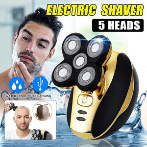 5 heads Electric Shaver Men Head Polish Hair Trimmer USB Rechargeable Razor Washable 3D Floating Shaving Machine Wet & Dry - Vipbeautycompany