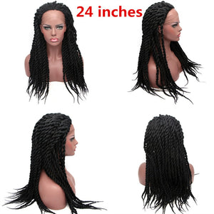 VIP Synthetic Lace Front Wig Afro 2x Twist Braids Wigs For Black Women - Vipbeautycompany