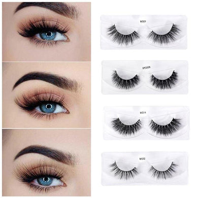 Luxury Mink Hair Fals Eyelashes Natural 3D Thick Eyelashes Strip Long Extension Lashes High Quality Eyes Makeup Tool - Vipbeautycompany