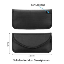 Load image into Gallery viewer, 3 Size Signal Blocking Faraday Bag,Anti-Radiation,Anti-Hacking,Tracking, Spying for Cell Phones,GPS, RFID,Car Key FOB,EMF case