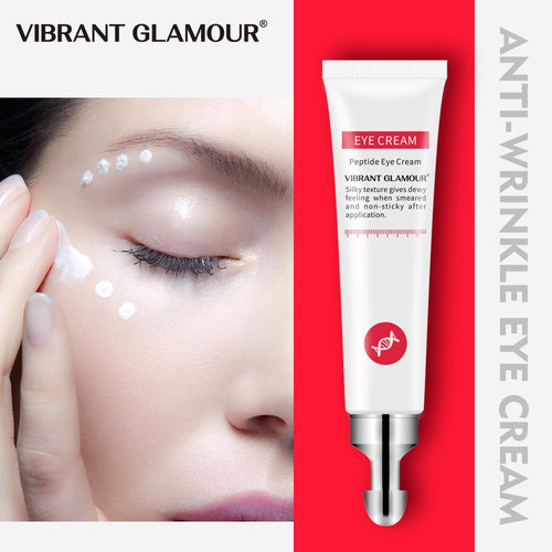 VIBRANT GLAMOUR Eye Cream Peptide Collagen Serum Anti-Wrinkle Anti-Age Remover Dark Circles Eye Care Against Puffiness And Bags - Vipbeautycompany