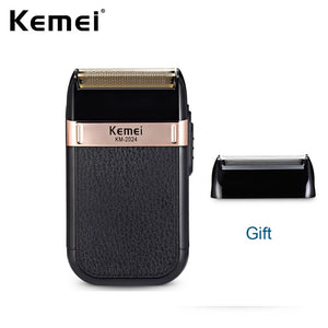 Kemei Electric Shaver for Men Twin Blade Reciprocating Cordless Razor Hair Beard USB Rechargeable Shaving Machine Barber Trimmer - Vipbeautycompany