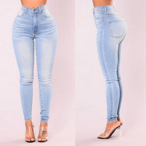 ITFABS Newest Arrivals Fashion Hot Women Lady Denim Skinny Pants High Waist Stretch Jeans Slim Pencil Jeans Women Casual Jeans