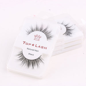 1Pair Black Luxurious 100% Real Mink Eye Lashes Wispy Cross Natural False Eyelashes Extension Soft Natural Eyelash Makeup Tools - Vipbeautycompany