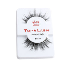 Load image into Gallery viewer, 1Pair Black Luxurious 100% Real Mink Eye Lashes Wispy Cross Natural False Eyelashes Extension Soft Natural Eyelash Makeup Tools - Vipbeautycompany