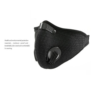 1 Pcs Cycling Face Mask Activated Carbon Dustproof Windproof Anti-fog Mask With Gas Filter Sports Outdoor Protective Filter  0.3 - Vipbeautycompany