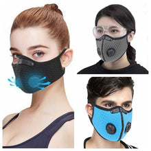 Load image into Gallery viewer, Bicycle Mask Face Protective Mask Anti-Dust Paint PM2.5 Filter Masks Activated Carbon Fire Escape Breathing Apparatus