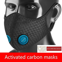 Load image into Gallery viewer, New Anti Dust Mask PM2.5 Activated Carbon Filter Face Mouth Masks Reusable Mouth Anti Fog Haze Respirator With 2 Filter chip