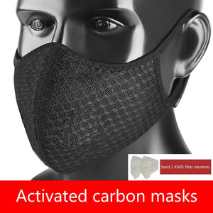 New Anti Dust Mask PM2.5 Activated Carbon Filter Face Mouth Masks Reusable Mouth Anti Fog Haze Respirator With 2 Filter chip