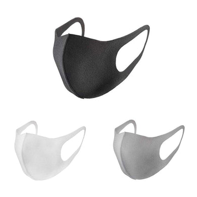 Black Anti Dust Unisex Mouth Mask Face Mouth Cover PM2.5 Masks Dustproof Anti-bacterial Outdoor Cycling Travel Protection