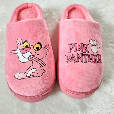 Dropshipping Women Winter Home Slippers Cartoon Shoes Soft Winter Warm House Slippers Indoor Bedroom Lovers Couples Pink Panther
