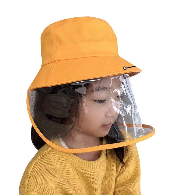 Kid Baby Safety Anti Spitting Protective Hat Face Shield Fisherman Hat Anti Splash Anti Virus Coronavirus Dust Mask Cover Cap - Vipbeautycompany