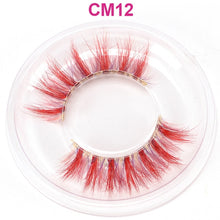 Load image into Gallery viewer, OKAYLASH Newest High End 3D Colored Real Mink Eyelashes Luxury  Rainbow Colorful Natural Cosplay  Eye lashes - Vipbeautycompany