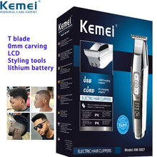 Load image into Gallery viewer, Kemei Electric Shaver for Men Twin Blade Reciprocating Cordless Razor Hair Beard USB Rechargeable Shaving Machine Barber Trimmer - Vipbeautycompany