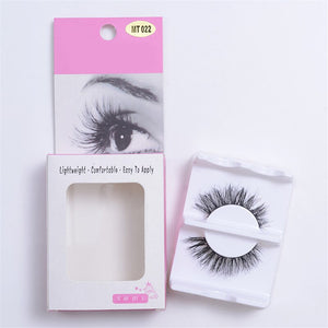 1pair False Eyelash Horse Hair Eye Lashes Extension Luxurious Soft Mink Natural Thick Eye Lashes False Eyelash - Vipbeautycompany