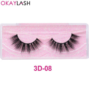OKAYLASH Promotion Price Luxury Good Quality 3D Faux Mink Cruelty free Wispies Eye lashes with Beautiful Pink Clear Lash case - Vipbeautycompany