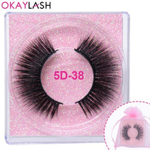 Load image into Gallery viewer, OKAYLASH Promotion Price Luxury Good Quality 3D Faux Mink Cruelty free Wispies Eye lashes with Beautiful Pink Clear Lash case - Vipbeautycompany