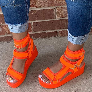 2020 Platform Sandals Women Shoes Summer High Heels Ladies Casual Shoes Wedge Chunky Sandals Gladiator Fashion High Top sandals - Vipbeautycompany