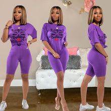 Load image into Gallery viewer, 2020 Women Sets Summer Tracksuits Sportswear Tops+Shorts Suit Two Piece Set Club Party Print Street 2 Pcs Sexy Outfits - Vipbeautycompany