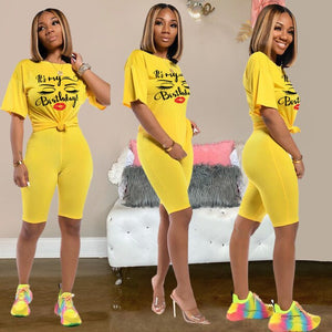 2020 Women Sets Summer Tracksuits Sportswear Tops+Shorts Suit Two Piece Set Club Party Print Street 2 Pcs Sexy Outfits - Vipbeautycompany