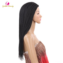Load image into Gallery viewer, VIP  Beauty company  22inch Long Braided African Wig Box Braids Wig Natural Black Synthetic Braiding Hair Wig for Black Women - Vipbeautycompany