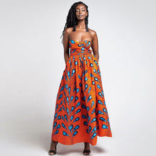 Load image into Gallery viewer, VIP African Fashion Print Dress - Vipbeautycompany