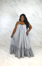 Load image into Gallery viewer, Curvy girl Sleeveless Solid Color long swing dress - Vipbeautycompany