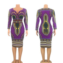 Load image into Gallery viewer, African Dress Fashion V-neck - Vipbeautycompany
