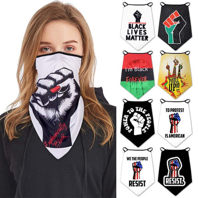 Black Lives Matter Face Mask Protective Breathable Ice Silk scarves - Vipbeautycompany