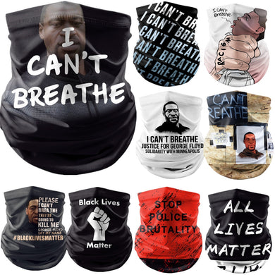 George Floyd I Can't Breathe Black Lives mask scarves - Vipbeautycompany