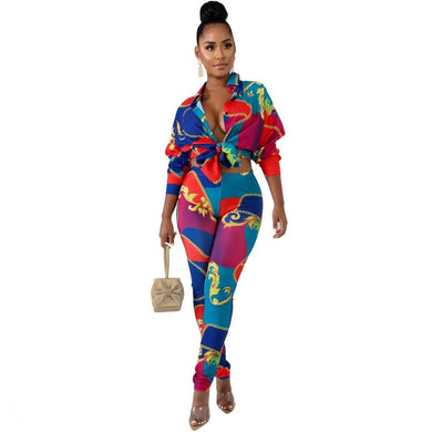 African Clothes Fashion Blouse Set