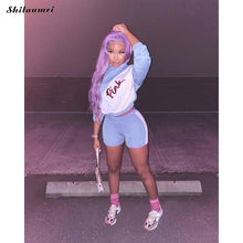 Load image into Gallery viewer, VIP Pink Letter Print Fashion 2 Piece Tracksuit Set Women Long Sleeve - Vipbeautycompany