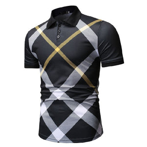 New Arrival Mens Polo Shirts Casual Slim Fit Short Sleeve Clothes - Vipbeautycompany