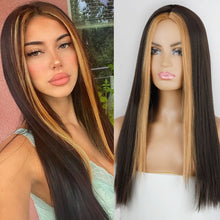 Load image into Gallery viewer, VIP  Straight Long Synthetic Wigs For Women Black Pink Wigs 24 inch 11 Color can be Cosplay Wigs - Vipbeautycompany
